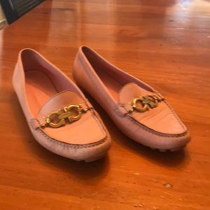 Salvatore ferragamo pink loafers